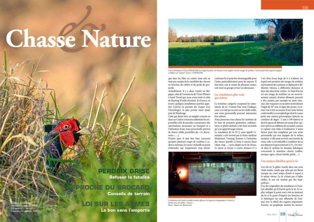 Presse Cinématir - Chasse & Nature Belgique mai 2017